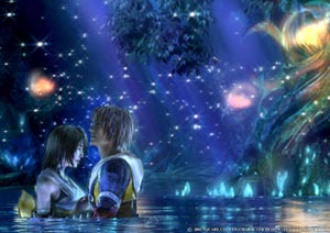 A high quality cutscene from Final Fantasy X