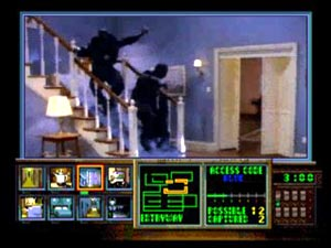 A screenshot from the FMV game Night Trap 2