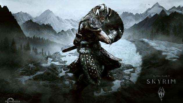 Elder Scrolls V - Skyrim Wallpaper - Aerial Attack