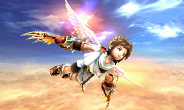 Kid Icarus: Uprising - Soaring Screenshot