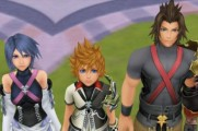 Kingdom Hearts: Birth By Sleep Trio at Attention