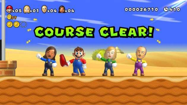 New Super Mario Bros. U Miis