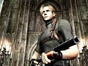 Resident Evil 4 Leon in default clothing
