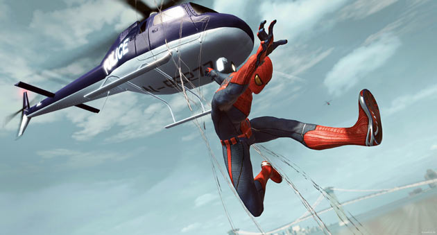 The Amazing Spider-man Helicopter