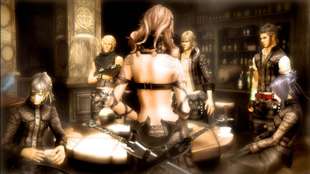 The Last Story Mercenaries in Bar