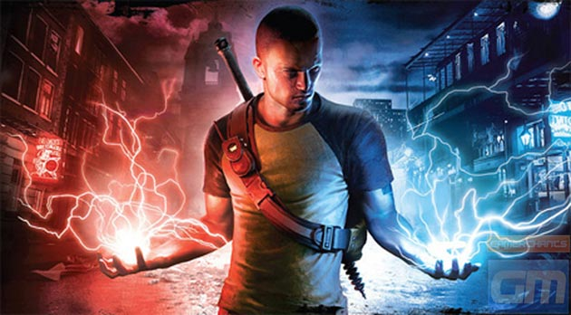inFamous 2 - Cole Bolts in Hands - Image